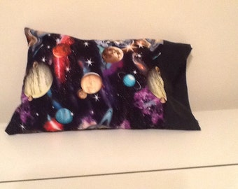 Travel Pillow Case Galaxy Solar System Print