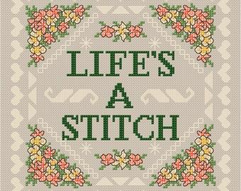 Cute Lifes a Stitch PDF Chart, Pattern