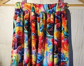 Girls rainbow rose skirt
