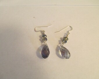 Earrings – Sky Blue Crystal  Briolettes