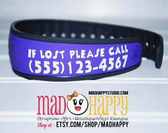 Magic Band Contact Information Decal