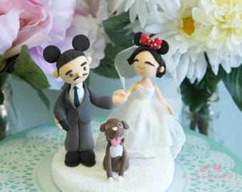 Custom Cake Topper- Mickey & Minnie