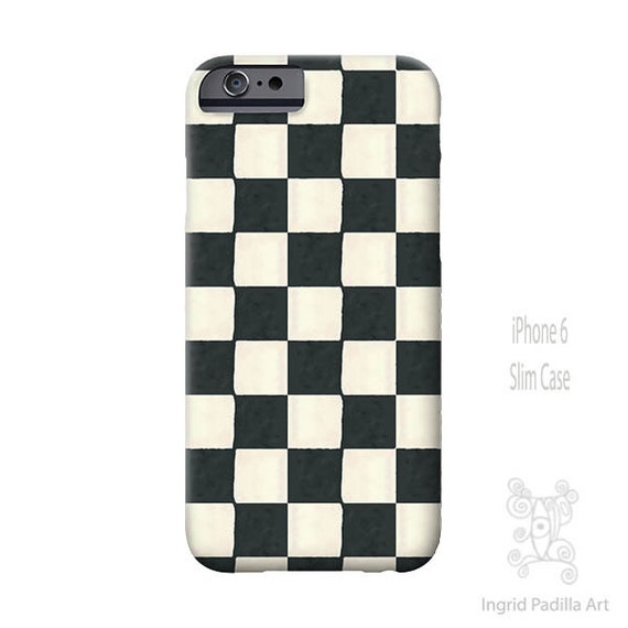 Black and white iPhone case, Checkered iPhone case, iPhone 6s Case, Art, iphone 8 case, iPhone 7 case, iPhone 6s Plus, Galaxy S7 Case
