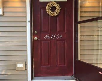 Front door address // Address numbers // No. Address sign // Vinyl address numbers // spring decor // home decor
