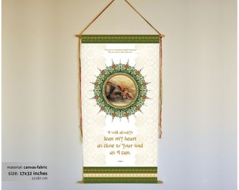 Hafiz, inspirational banner, hafiz quote, love quotes, love gifts, love painting, elephant art, elephant painting, elephant, wall art