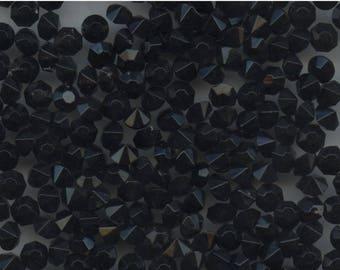 451130 *** 40 vintage rhinestones point back 4,7 blue indigo very dark