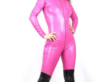 Meow leatherette catsuit