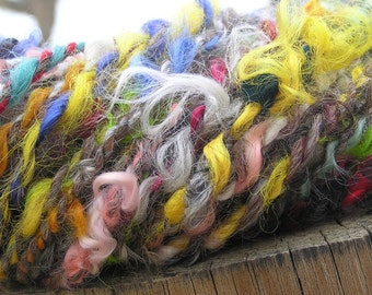 Hand Spun Yarn - Alpaca, Llama and Wool - Summer Joy
