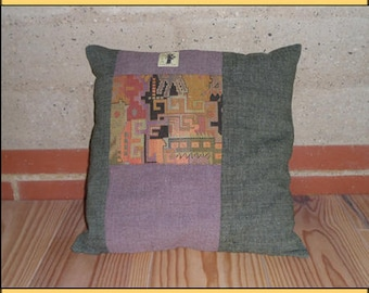 """Green Vertical"" pillow"