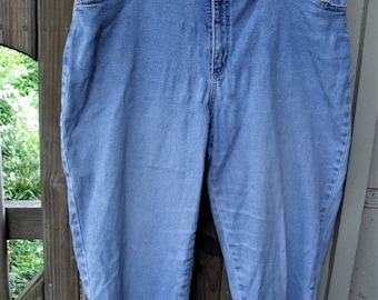 Denim Stretch Jeans/ 16W Retro Jeans/ Denim Spandex Jeans/ Thrifted Grunge/ Farmhouse Chic/ Plus Size Jeans/ Shabbyfab Thrift