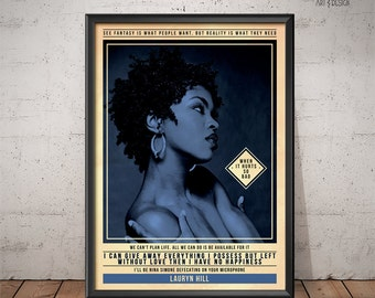Lauryn Hill Poster - Quote Retro Music Poster - Music Print, Wall Art