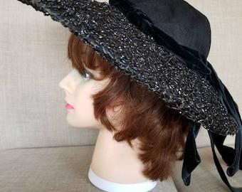 """Vintage '60s Women's """"Lecie Original"""" Designer Broad Brimmed Hat"""