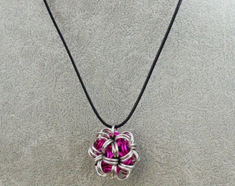Chainmaille Ball Necklace / Dodecahedron Pendant