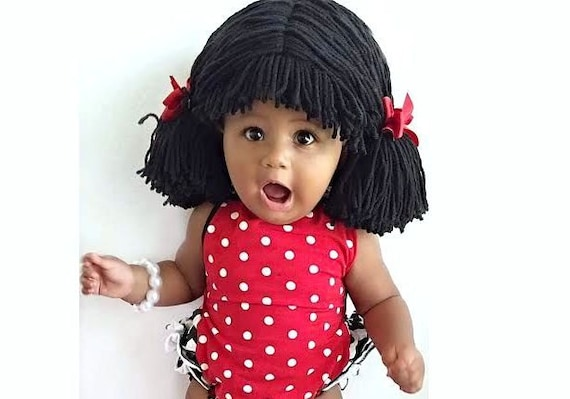 Cabbage Patch Wig Pigtail Baby Hat