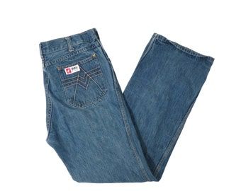 Vintage 70s Boot Cut Pocket Detail Jeans Size 32 x 30