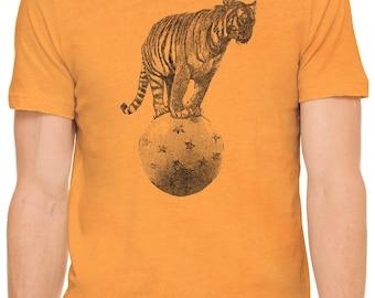 Austin Ink Apparel Circus Tiger Short Sleeve Cotton Mens T-Shirt