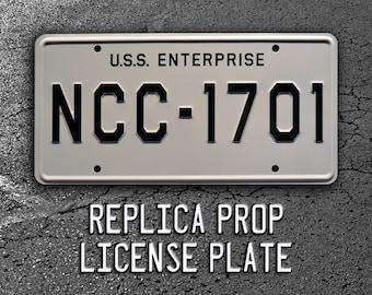 Star Trek   USS Enterprise   NCC-1701   Metal Stamped Replica License Plate