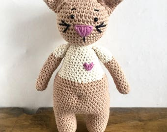 Crochet Cat - Amigurumi Toy. Child friendly Stuffed toy Cat or Room decor