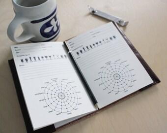 Beer tasting leather refillable journal // Beer notebook //  Ale tasting journal // fill in the blank log