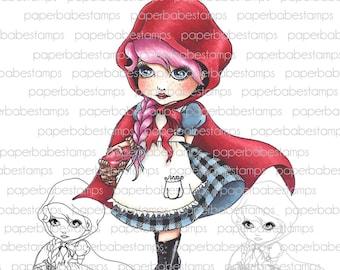 Digital Stamp - MayLeeDee Little Red Hood - Digital image for papercrafts