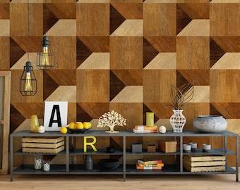 Wood Removable Wallpaper - Wood Adhesive Wallpaper - Wood Wallpaper - Peel and Stick - Fabric Wallpaper - Wall Mural - Wallpaper - SKU:Wood