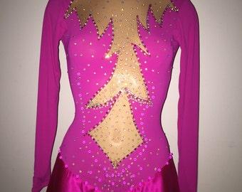 Pink ice skating dress