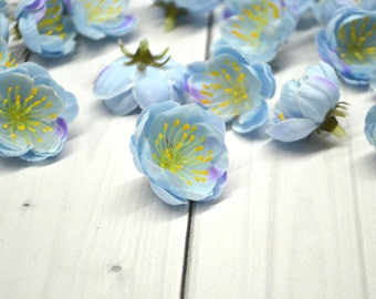 Artificial flowers, Flower Heads, Cherry blossom, Floral Supplies, Wrapping gift,Silk Flowers, Wedding flowers