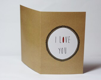 "A ""I love you more than I love coffee"" or ""I love coffeet more than I love you"" card"