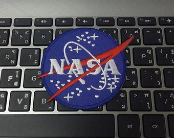 "NASA Logo Applique Embroidered Iron on Patch size 3 1/8"" x 2 3/4"""