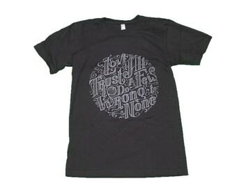 "Huzzy's Handmade Shakespeare T-Shirt ""Love All"" Quote, Inspirational Tshirt, Positive Tshirt"