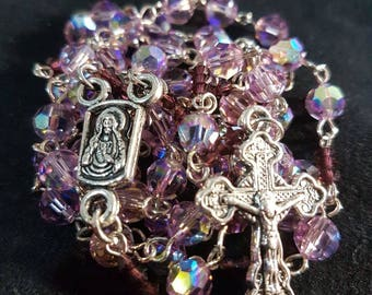 Handmade Rosary with swarovski Crystals
