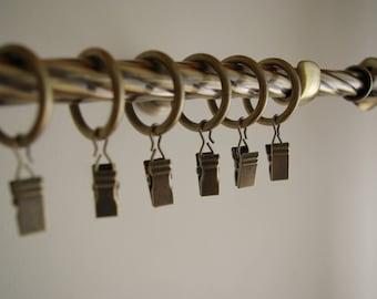 Antique Gold 'Twister' Curtain Rail/Pole Set Single - 140cm/16mm