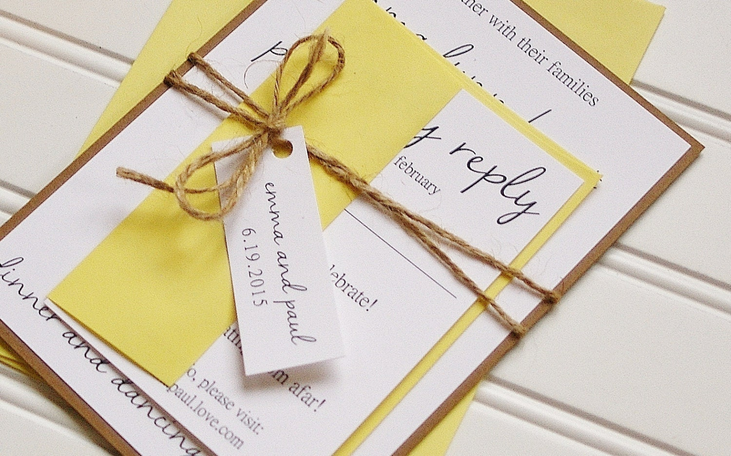 yellow wedding invitation - Picture Ideas References