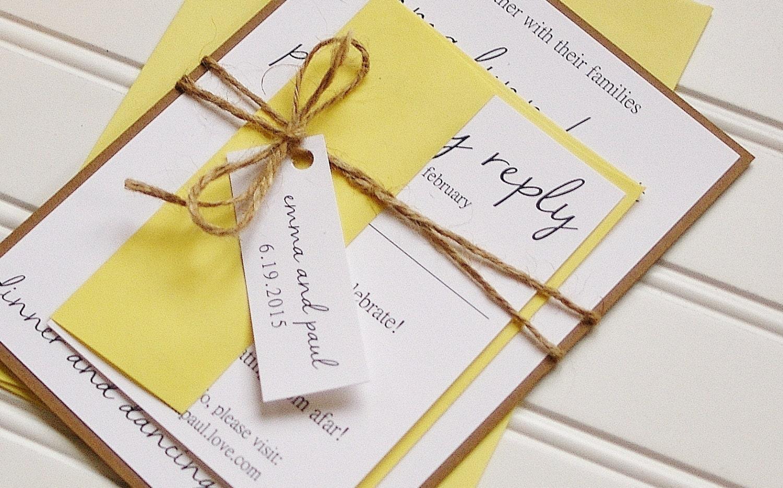 Rustic Wedding Invitations: Unique Handmade Rustic Kraft and