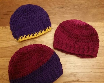 Chunky beanie hats. New born and 0 to 6 months