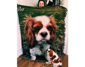 50 x 60 Custom Dog Blanket, Dog Lover Gift, Cat Lover Gift, Cat Blanket, Pet Gift,  Pet Memorial Gift, Dog Bedding, Cat Bedding, Pet Bedding