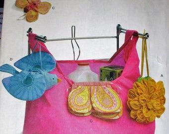 "Butterick pattern, B5621, Butterick market bag, 4 variations market bags, all 14"" X  15"" size"