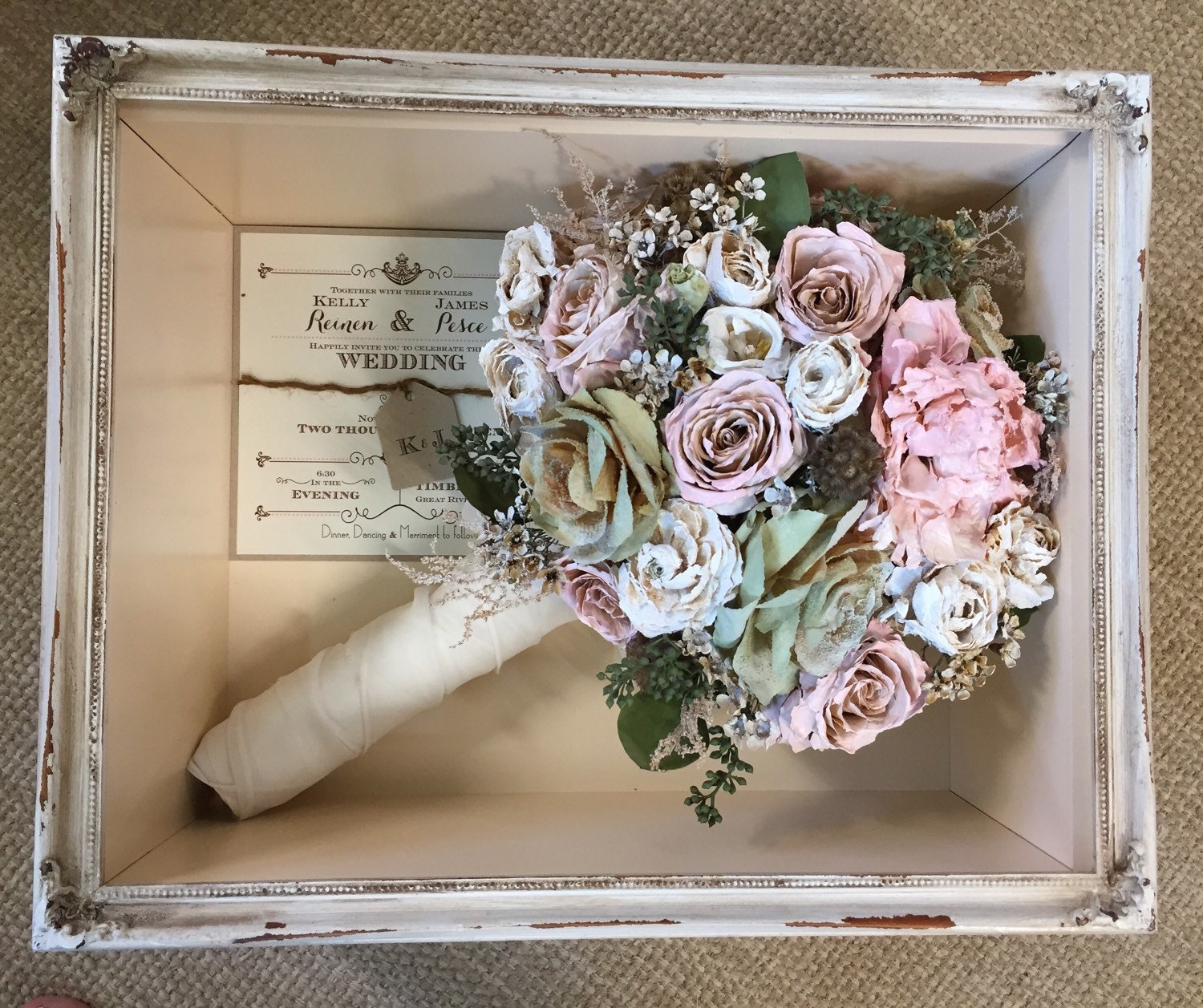 Floral Preservation for Wedding Bouquets in Shadow Box Local