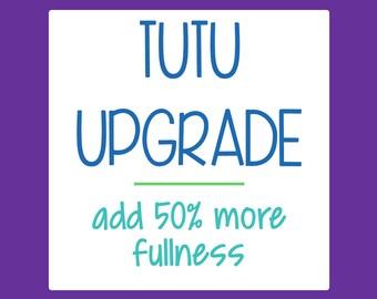 Tutu Upgrade - Add 50% more fullness to any double layer tutu costume