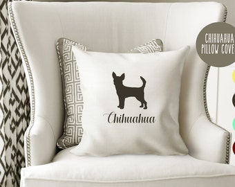 Personalized Chihuahua Pillow Cover