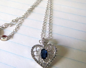 Heat shaped necklace,cubic zirconia necklace