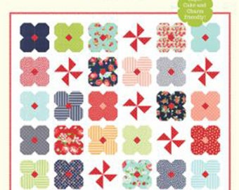 """Wildflowers Quilt Pattern by Cotton Way, Bonnie Olaveson, 68"""" x 68"""", Layer Cake/Charm Pack Friendly"""