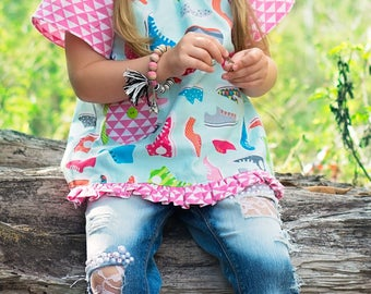 Emma Tunic, Pullover Tunic, Girls Tunic, Toddler Tunic, Peasant Tunic, Little Girl Tunic, Toddler Peasant Top, Girl Clothing, Peasant Top