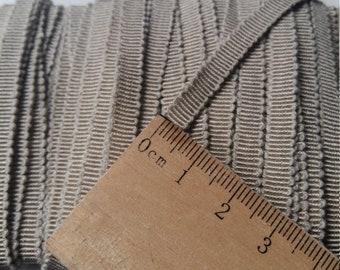 Fine Grosgrain cotton Twine / premium / thin cotton grosgrain/PuTTY/link fabric/sewing/string/manufacturing attach/beige/hat braid.
