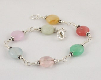 Fun Multi-colored Agate Bracelet