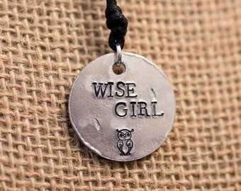 "Percy Jackson Inspired ""Wise Girl"" Necklace"