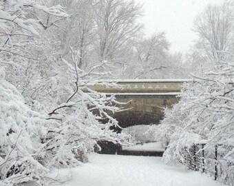 Winter Landscape - Snowy Winter - White Winter - Arch in Snow - New York Winter Scene - Snow Storm - Nature Photograph - Landscape