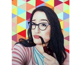 Cheeky Beauties - Old Soul - Pop Art - ART PRINT - 8 x 10 - By Toronto Portrait Artist Malinda Prudhomme