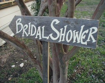 Rustic Wedding Sign / Rustic Bridal Shower / Rustic Bridal Shower Decoration / Bridal Shower Direction / Country Bridal Shower