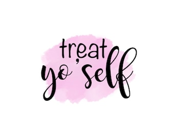 "Treat Yo'Self 2"" Gift Tag - Pink"
